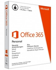 Microsoft Office 365 Personal, 32/64 Bit, (1PC/MAC und 1 Tablet - 1 Jahres-Abonnement), ESD, Download Software, Win/Mac, Multilingual