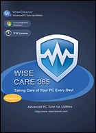 WiseCleaner Wise Care 365 PRO, Download, Win, Deutsch Lizenz für 365 Tage