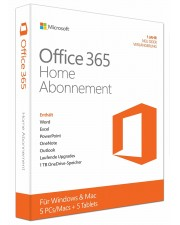 Microsoft Office 365 Home 5 PCs/MACs, Deutsch (6GQ-00046)