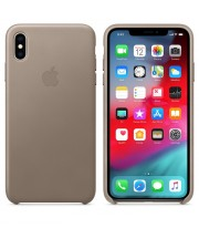 Apple iPhone Xs Max Leather Case Taupe Smartphone