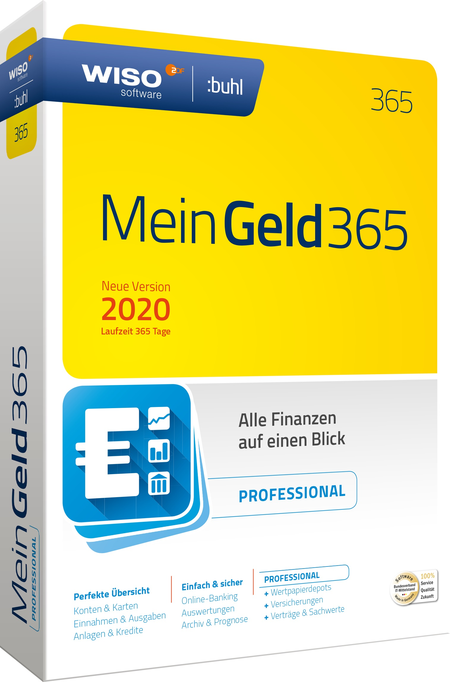 WISO Mein Geld Professional 365 (Version 2020) Download Win Deutsch (DL42638-20)