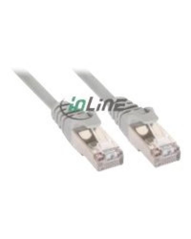 InLine Patchkabel S-FTP Cat.5e grau 1m 2x RJ45 Ste 72511