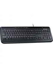 Microsoft Wired Keyboard 600 Tastatur USB Deutsch Schwarz