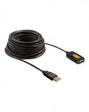 Delock USB extension cable Typ A 4-polig M A W 5 m aktives Kabel Signalregenerierung (82308)