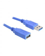 Delock USB extension cable Typ A 4-polig M A W 1 m / Hi-Speed / 3.0