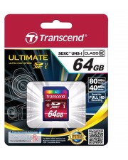 Transcend Premium Flash-Speicherkarte 64 GB Class 10 SDXC