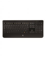 Logitech Wireless Illuminated K800 Tastatur 2.4 GHz kabellos USB Deutsch Schwarz (920-002360)