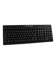 LC Power Tastatur USB Deutsch Schwarz