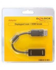 Delock Adapter Displayport male > HDMI female Video- / Audio-Adapter DisplayPort / (61849)