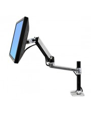 Ergotron LX Desk Mount LCD Arm Tall Pole Befestigungskit für LCD-Display Aluminium Polished Aluminum Bildschirmgröße: bis zu 61 cm 24 Zoll Tischmontage