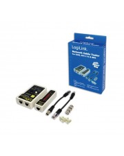 LogiLink Network Cable Tester Netzwerktester-Set with Remote Unit