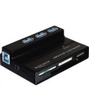 Delock USB 3.0 Card Reader All in 1 + 3 Port Hub Kartenleser All-in-one Multi-Format (91721)