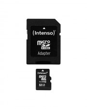 Intenso Class 10 Flash-Speicherkarte microSDHC/SD-Adapter inbegriffen 32 GB