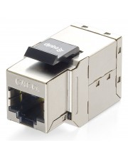 Digital Data Communications RJ-45 Schwarz Metallisch Drahtverbinder Cat.6A Shielded Keystone Inline Coupler 8 pcs