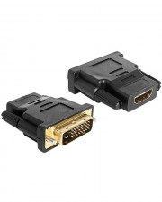 Delock Adapter DVI 24+1 pin male > HDMI female Videoanschluß /