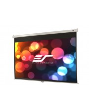 "Elite Screens ""Manual M100XWH"" Rollo Leinwand 221,0cm x 124,5cm BxH 16:9 Deckenhalterung"