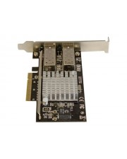 StarTech.com Network Card with Open SFP PCIe Intel Chip Netzwerkadapter 2.0 x4 Low Profile 10 GigE 10GBase-LR 10GBase-SR 10GBase-LRM Schwarz