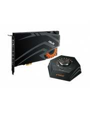 ASUS STRIX RAID DLX Soundkarte PCI Intern 24 Bit 7.1 124dB SNR 384KHz/24bit Channel 8 Sonic Studio 1-In/5-Out 3.5mm jack S/PDIF Box Link (90YB00H0-M1UA00)