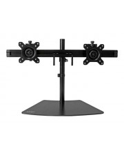 "StarTech.com Dual Monitor Stand Mount for Two LCD or LED Displays Verstellbarer Arm für LCD-Display Kunststoff Stahl Schwarz Bildschirmgröße: 61 cm 24"" Standfußmontage geeignet"