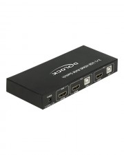 Delock HDMI KVM Switch 2 > 1 with USB and Audio KVM-/Audio-/USB-Switch 2 x KVM/Audio/USB 1 lokaler Benutzer Desktop (11421)