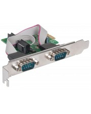Manhattan Serial PCI Express Card Serieller Adapter PCIe RS-232 x 2 (152082)