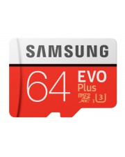 Samsung EVO Plus MB-MC64G Flash-Speicherkarte microSDXC-an-SD-Adapter inbegriffen 64 GB UHS-I U3 / Class10 microSDXC
