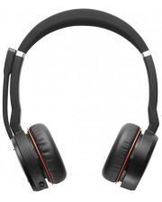 Jabra Evolve 75 MS Stereo Headset On-Ear drahtlos Bluetooth aktive Rauschunterdrückung USB