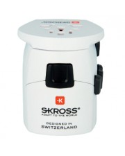 SKROSS Universal Weiß Netzstecker-Adapter The most powerful 3-pole world travel adapter for travellers from all over the (1.103175)
