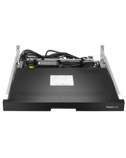 Avocent 18.5Zoll 1366 x 768Pixel Kunststoff Stahl Schwarz 1U Konsolenregal LCD Local Rack Access Console 8P KVM 8 CABLES USB KB-GER