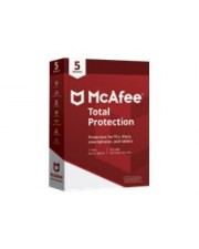 McAfee Total Protection Box-Pack 1 Jahr 5 Peripheriegeräte Win/Mac/Android/iOS, Deutsch (MTP00GNR5RAA)