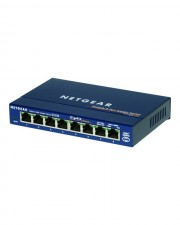 Netgear ProSafe GS108 Switch Gigabit Ethernet Ports 8x 10/100/1000 Mbps Desktop