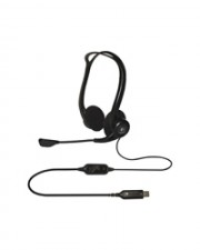 Logitech PC Headset Kopfhörer verkabelt 960 USB On-Ear (981-000100)