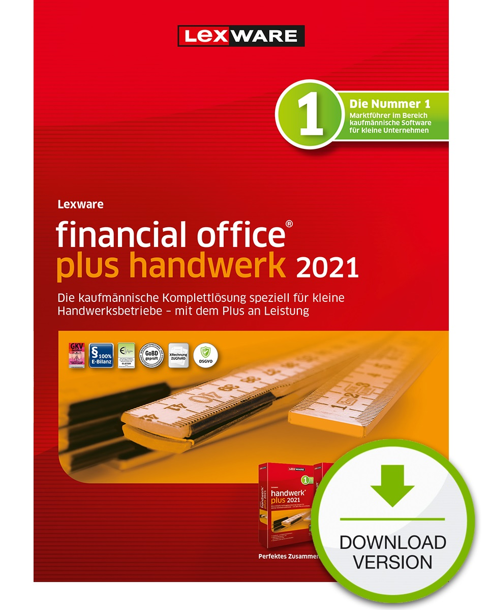 Lexware financial office plus handwerk 2021 1 Jahr 1 Benutzer Download Win, Deutsch