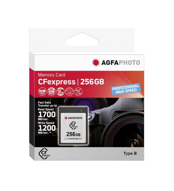 AgfaPhoto CFexpress 256GB Professional High Speed CF Express Typ B 256 GB (10441)