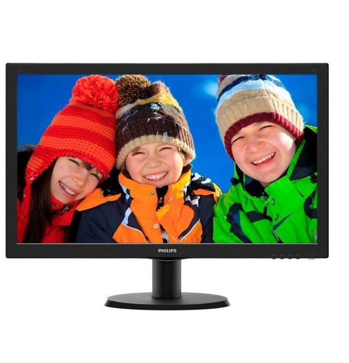 "Philips V-line LCD-Monitor 54.6 cm 21.5"" Full HD 5 ms mattschwarz Textured Black EEK: A+"