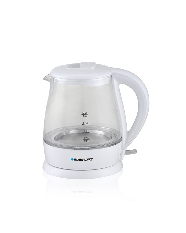 Blaupunkt Kettle electric 1630W 1l white color Farbig Weiß