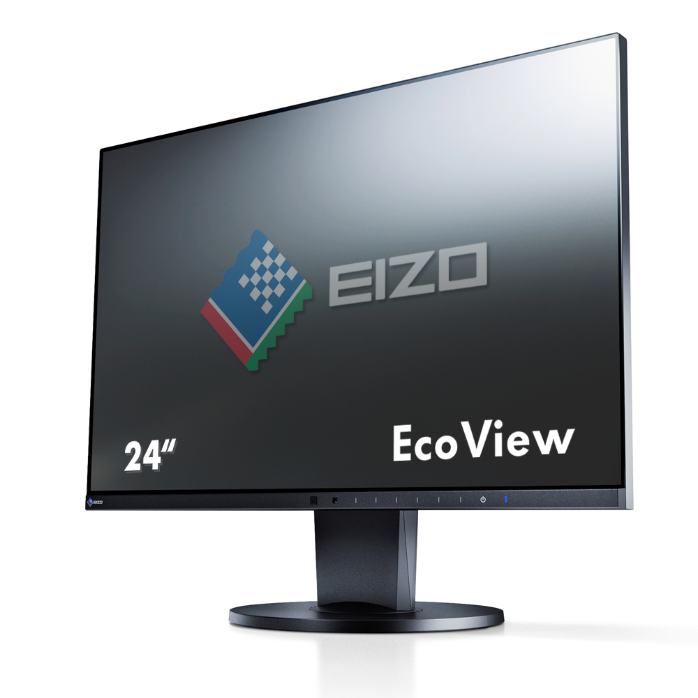 EIZO LCD Monitor Widescreen 23,8'' 60 cm Full HD IPS 5 ms USB 3.0-Hub Schwarz EEK: A