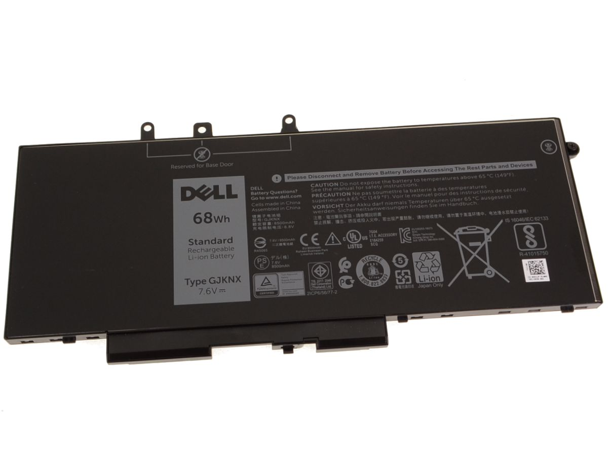 Dell Main Battery Pack 7.6V 68Wh 8500mAh Batterie 8.500 mAh 7,6 V