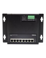 TRENDnet 8-Port Industrial PoE+ Gigabit Wall-Mount Front Access Switch