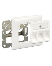 Delock Keystone Wall Outlet Wanddose Pure White RAL 9010 3 Ports