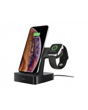 Belkin PowerHouse Charge Dock f. Apple Watch und iPhone schwarz Weiß (F8J237VFBLK)