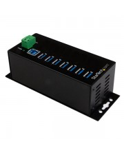 StarTech.com USB 3.0 3.1 Gen 1 Type-B 3.2 1 1 Type-A 5000 Mbit/s Schwarz Leistung RoHS REACH CE FCC TAA 7-Port Industrial Hub with External Power Adapter ESD & 350W Surge Protection HB30A7AME (HB30A7AME)