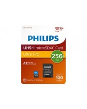Philips MicroSDXC Card 256GB Class 10 UHS-I U3 incl. Adapter Extended Capacity SD MicroSDHC 256 GB