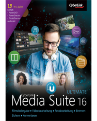 CyberLink Media Suite 16 Ultimate Download Win, Deutsch (P25505-01)