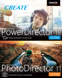 CyberLink PowerDirector 18 & PhotoDirector 11 Duo Download Win, Deutsch (P26411-01)