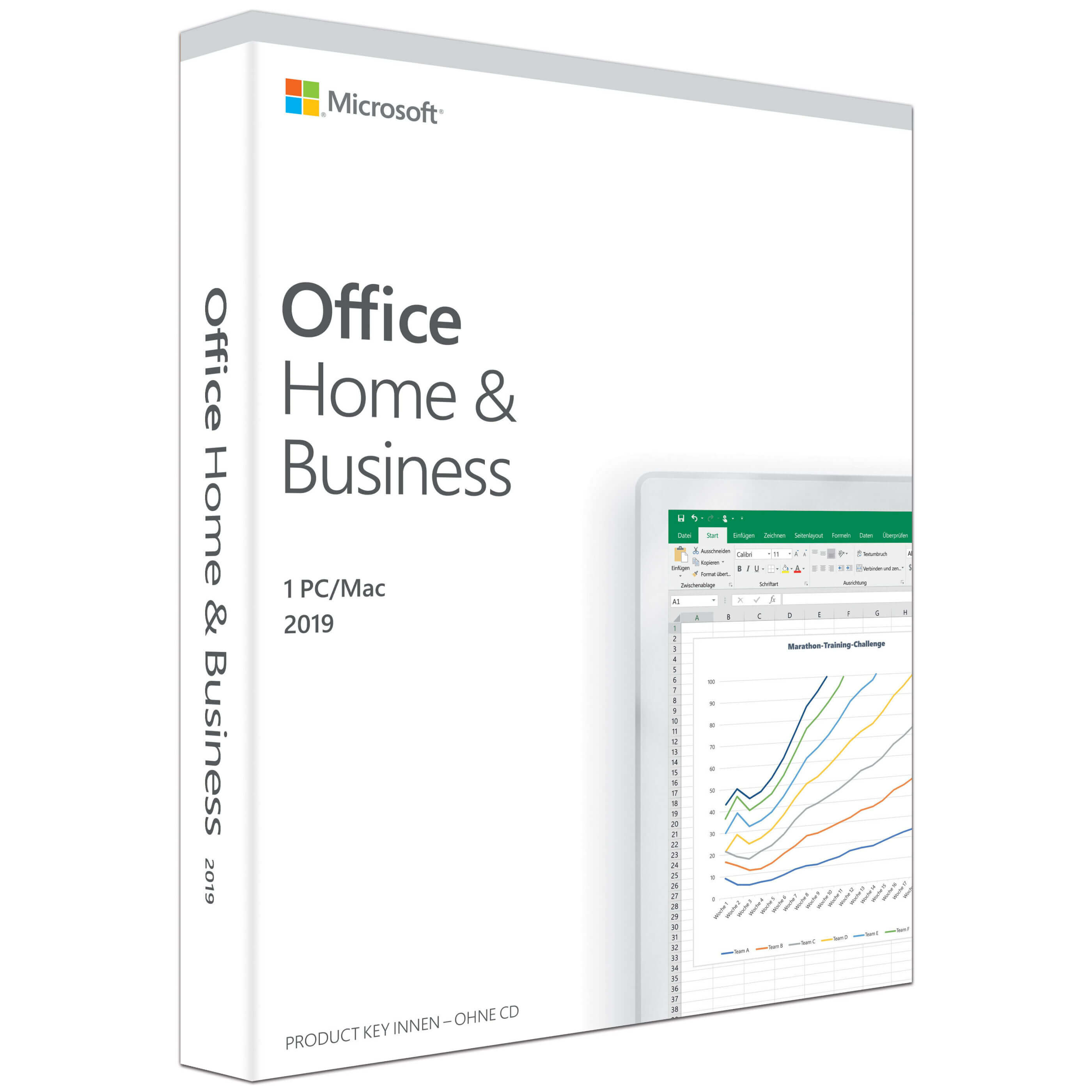 Microsoft Office 2019 Home & Business PKC Box Win/Mac, Deutsch