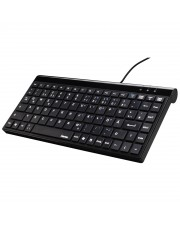 Hama Slimline Mini-Keyboard SL720 Tastatur USB Deutsch Schwarz
