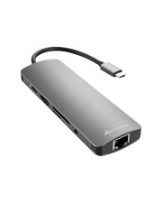 Sharkoon USB 3.0 TYPE C COMBO AD. GREY Hub 3x (4044951026739)
