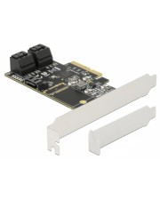 Delock 5 Port SATA PCI Express x4 Karte Low Profile Formfaktor Serial ATA 6 GB/s PCI-Express
