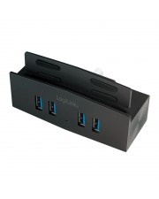 LogiLink 4-port Clamp Hub with Aluminum Casing 4 x SuperSpeed USB 3.0 Desktop